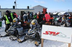 Snowmobiler TV at Cain's Quest