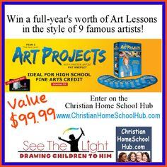 #HOMESCHOOL giveaway! Win an ART PROJECTS DVD SET by See The Light! Value $99.99 Giveaway dates: November 24th - 30th, 2013