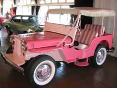 Pink Antique Jeep -  I have a tonka truck jeep from the 60's that looks just like this!
