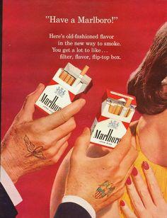1950's Vitnage Ad for Marlboro Cigarettes 011813 | eBay