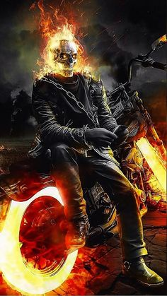 DescriptionStunt motorcyclist Johnny Blaze decides to give up his soul to become the Ghost Rider and fight against Blackheart, the son of Mephistopheles, the devil himself. Ghost Rider Kostüm, Ghost Rider Motorcycle, Ghost Rider Drawing, Ghost Rider Tattoo, Ghost Rider Marvel, Wallpaper Animé, Marvel Wallpaper, Desenho Jack Frost, Eva Mendes Ghost Rider