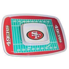 San Francisco 49ers Chip and Dip Tray