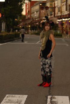 glamdy kimono show  japanese wagara