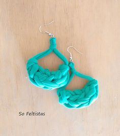 sofeltistas | So Feltistas Jwls. Handmade Cotton Earrings.