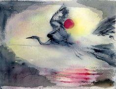 Ethereal Flight - Heron Dance Art Studio