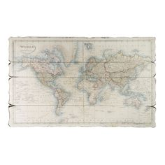 Wood Panel World Map ($105) ❤ liked on Polyvore