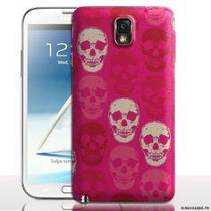 Coque telephone portable Samsung Galaxy NOTE 3 Skull Rose - Coque antichocs rigide. #Note3 #Skull #SamsungGalaxy