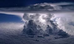 Apocalyptic-looking storm is pictured bursting through clouds