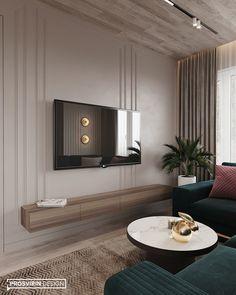 Project Raft on Behance Living Room Tv, Living Room Modern, Interior Design Living Room, Living Room Designs, Home Room Design, House Design, Luxurious Bedrooms, Home Decor, Behance