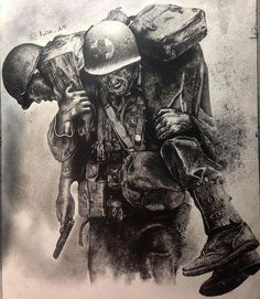 No one left behind by millicent Army Tattoos, Military Tattoos, Military Art, Military History, Military Soldier, Rauch Tattoo, Soldier Tattoo, War Tattoo, Military Drawings