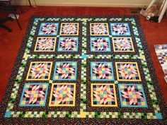 Susan's Quilt Creations: Grand Illusion finale--double sided quilt!