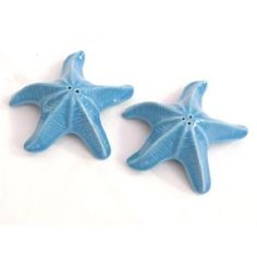Starfish Salt and Pepper Shakers - Light Blue - Tropical Beach
