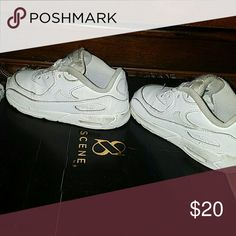 Little boys sneakers Air Max White tennis  (no shoe strings) Nike Shoes Sneakers