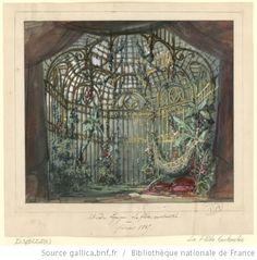 [La flûte enchantée : esquisse de décor de l'acte II, tableau 2 / Philippe Chaperon] - 1865
