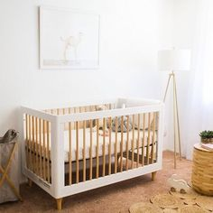 @babyletto on Instagram: minimalist for a lil\' miss • #babyletto Lolly 3-in-1 crib • designed by @tanahallows of @destinationnursery for mama @latishaspringer  • : @nicolettemonsonphoto