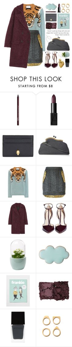 """"""" color scheme contest (view description)"""" by jesuisunlapin ❤ liked on Polyvore featuring NYX, NARS Cosmetics, Alexander McQueen, Miu Miu, Gucci, N°21, Karl Lagerfeld, 3.1 Phillip Lim, Kevyn Aucoin and Witchery"""