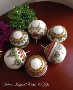 Home Decor - Entryway by Kim Toledo - 30 mehandi ball candles dispatched. Round Candles, 6 Candles, Natural Candles, Indian Wedding Favors, Candle Wedding Favors, Candle Favors, Candle Art, Soy Candle, Henna Candles