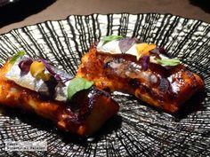 Torrija de pan tumaca con sardina ahumada