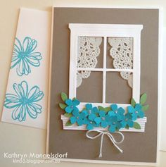 Kathryn's Stampin' World - Hearth & Home Thinlits Dies, Window and Flower Box CASE from Mercedes Weber