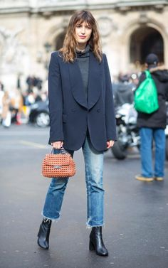 What shoes should you wear with the new cropped and frayed jean style?