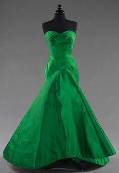 Charles James - Couturier - Robe de Soirée - Vert Vif - 1954