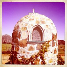 A place for prayer. Adobe Guadalupe, Mexico.