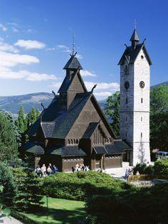 The Wang Chapel, 12th Century Norwegian Church, Karpacz, Sudeten Mountains, Poland, Europe