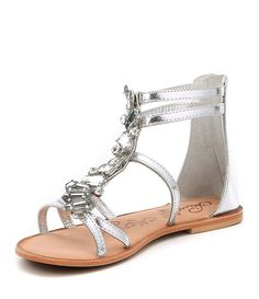 3ab5e0b3f Silver Darla Multi Jewel Gladiator Sandals Gladiator Sandals