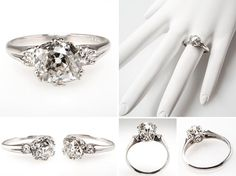 Exquisite Vintage and Antique Engagement Rings from EraGem  Fave of all, drop dead gorgeous