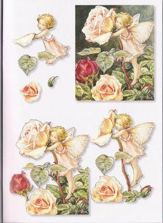Paper Art, Paper Crafts, Decoupage Printables, 3d Sheets, 3d Cards, 3d Prints, Decoupage Paper, Flower Fairies, Card Patterns
