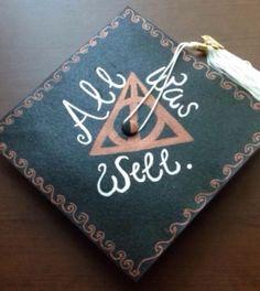 My Harry Potter graduation cap design.