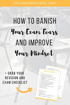 Learn how to overcome common exam fears and develop the strong mindset needed to ace excel and get high grades in your university or college exams | finals | assessment | tests | study skills | study tips | study advice
