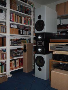 Hier is de vorige opzet te zien met Fountek bas/midden speakers.