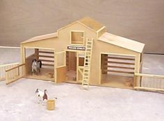 toy wooden barn tutorial - have hubby make for our daughter's birthday