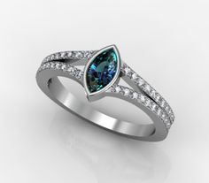 #marquise #alexandrite , #gold #diamonds #ring