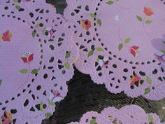 Handmade Floral Paper Doilies Set of 6. $4.00, via Etsy.