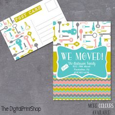 We moved announcement cards INVITATION by DigitalPrintShop on Etsy, $8.99