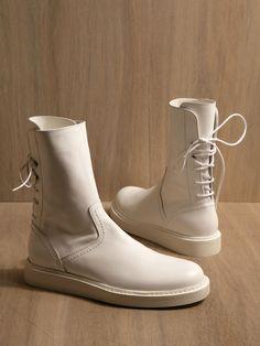 Ann Demeulemeester Mens Vitello Shoes in White for Men