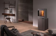 These 3 doors wood burning stoves are created, produced and marketed by Stûv that also produces pellet stoves, fireplaces, wood inserts, open fires and gas fires Pellet Fireplace, Pellet Stove, Open Fires, Gas Fires, Wood Insert, Red Dot Design, Kitchen Utensils, Wood Doors, Design Awards