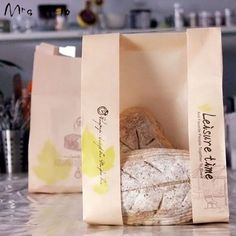 Kraft Paper Package Bags Bakery Cookies Toast Bread Bags Cake Packing Bag Packing Food Party Favors Decoration 20pcs/lot PP541