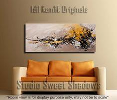 Moderno abstracto Original pintura contemporánea Textured Fine ART tonos tierra por Idil Kamlik