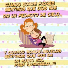 AMO A MIS NIETOS... Spanish Inspirational Quotes, Spanish Quotes, Grandma Quotes, Mother Quotes, Good Morning Quotes, Grandparents, Grandchildren, Psychology, Life Quotes