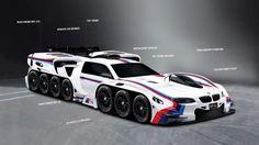 BMW Designs a 42-Wheel, 19-Engine car