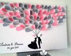 Guest book tree signatures tree prints on a cotton 40 x 40 cm to 60 – Artofit Paper Flowers Diy, Diy Paper, Paper Art, Paper Crafts, Valentines Bricolage, Valentines Diy, Diy Wall Art, Diy Art, 3d Tree