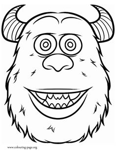 A Beautiful Coloring Sheet For Kids Of Sulley One The Main Characters From Monsters