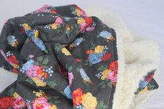 Baby Blanket - Minky Roses are Red Blanket by TheWakingHours on Etsy