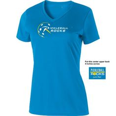 4c63ac65 Bright Blue Pickleball Rocks V-Neck Short Sleeve Rocks, Bright, Short  Sleeves,