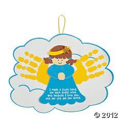 Angel Handprints Poem Ornament Craft Kit, - Oriental Trading