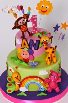 Torturi - Viorica's cakes: Tort Baby TV pentru Ana