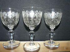 10 verres à porto BACCARAT MODELE TREFLE CRISTAL GRAVE DECOR ART nouveau